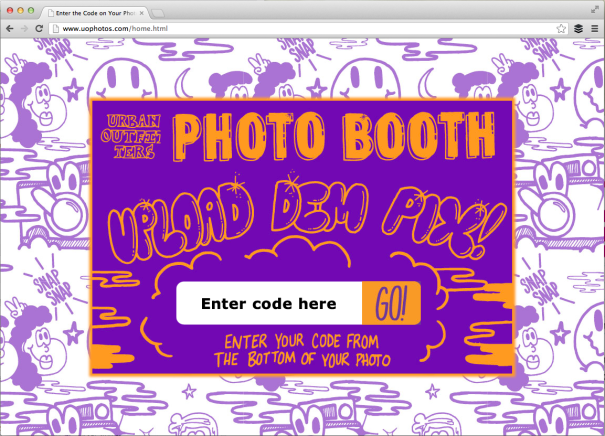 Urban Outfitters - Custom Photo Strip Claim Page